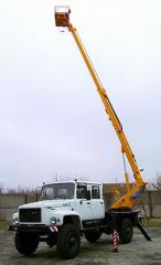 The car lift telescopic for rise on heigh