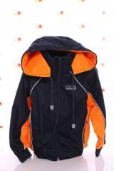 Куртка Кант флис синий с оранжевым