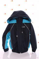 Куртка Кант флис синий с бирюзовым