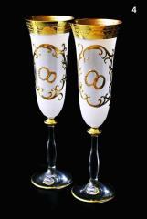 Wedding wine glasses of Bohemia