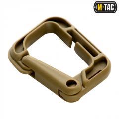 M-Tac карабин пластиковый Grimloc 60 мм койот