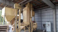 Granulating line of feed on the basis of press