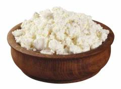 Sour-milk cottage cheese for production of curd