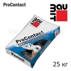 Смесь клеющая для приклеивания и защиты теплоизоляции (ППС та МВ) Баумит (Baumit) ПроКонтакт, 25кг