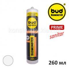 Герметик силиконовый санитарный Budmonster Prime, 260 мл (белый)