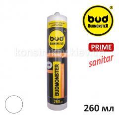 Герметик силиконовый санитарный Budmonster Prime, 260мл (прозрачный)