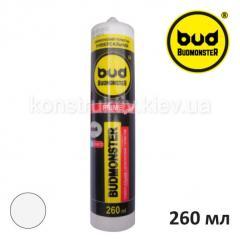 Герметик силиконовый универсальный Budmonster Prime, 260 мл (белый)