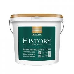 Краска интерьерная Колорит HISTORY, 9 кг