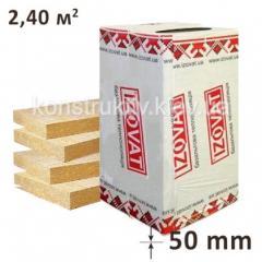 Минеральная вата Изоват 80 (1000*600*50) 2,4м.кв. упаковка 4 плиты