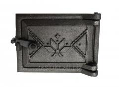 Дверка прочистная чугунная (сажечистка) на защелке (120 х 160 мм.)