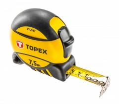 Рулетка Topex 27C397 Рулетка, сталева стрiчка 7.5