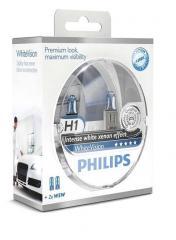 Лампа галогенная Philips H1 WhiteVision +60%,