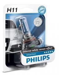 Лампа галогенная Philips H11 WhiteVision +60%,