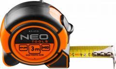 Рулетка NEO, стальная лента 3 м x 16 мм