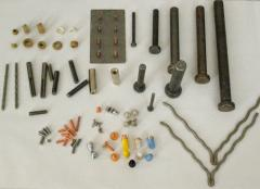 Fasteners (bolts, hairpins, plugs of grounding,