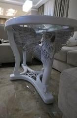 Custom-built carved furniture