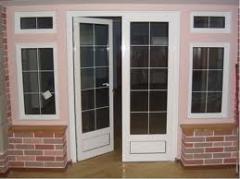 Двери межкомнатные металлопластиковые.