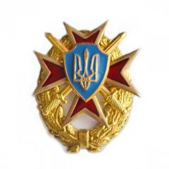 Герб Украины на мальтийском кресте и венке