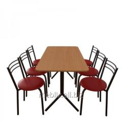 Комплект для кафе: Стол Скорпион + 6 стульев Ника