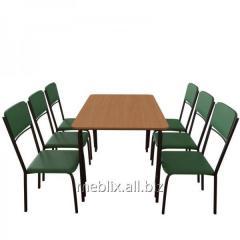 Комплект для кафе: Стол Лира + 6 стульев Рио