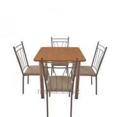 Комплект для кафе: Стол Обеденный Хром + 4 стула