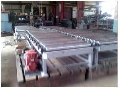 Equipment for molding of color alloys. Conveyor