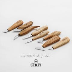 Набор ножей для резьбы по дереву STRYI, 8 штук, арт.S08002