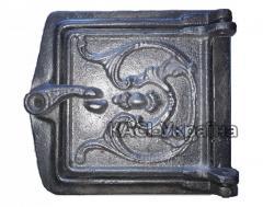Дверка прочистная алюминиевая (сажечистка) на защелке (155 х 165 мм.)