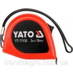 Рулетка с двойной блокировкой 3мх16мм YATO