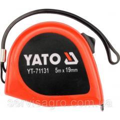 Рулетка с двойной блокировкой 5мх19мм YATO