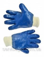 Перчатки резиновые маслостойкие с манжетом, ...