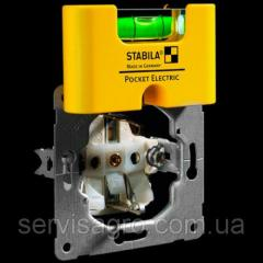 Мини-уровень STABILA Pocket Electric магнитный для электриков 7х2х4 см