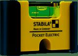 Мини-уровень STABILA Pocket Electric: 7х2х4 см 1 капсула, отверточный паз, крепление