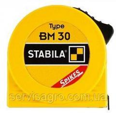 Рулетка STABILA Type BM30 пластиковый корпус стальная лента