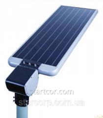 Λάμπα του δρόμου LED αυτόνομα από την ηλιακή μπαταρία 20 W της ηλιακής