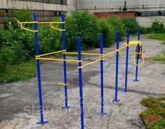 Bar gymnastics. Street workout outdoor playground