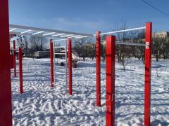 Playground with a boxing ring