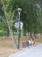 """장식용 LED 램프가있는 조명 지원 공원 """"Sepia"""""""