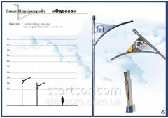 "Lighting poles park ""Odessa"" with linear LED..."