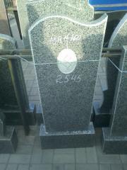 Памятники гранитные серые Пологи