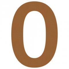 Номер на дом 0 нержавеющая сталь цвет коричневый