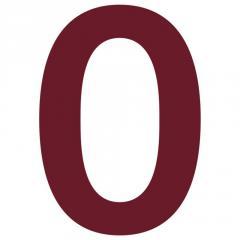 Номер на дом 0 нержавеющая сталь цвет красный