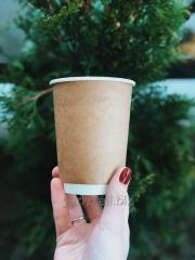 Kraft paper cup double wall THERMO - 500ml.