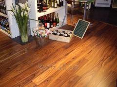 Parquet board for warm floor oak