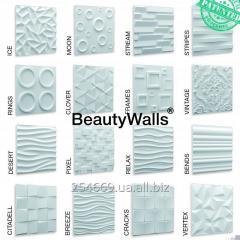Декоративные гипсовые стеновые 3D панели