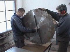 Пайка сегментов, рихтовка дисковых пил для резки