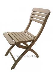 Wooden folding oak chairs.