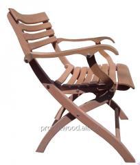 Wooden folding oak chair