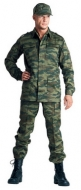 Suit camouflage diagonal. Overalls, working