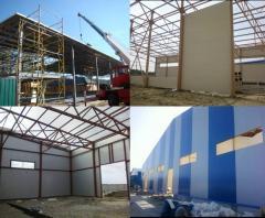 Промышленное строительство, строительство складов,